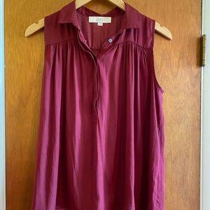 Burgundy Ann Taylor Loft sleeveless top